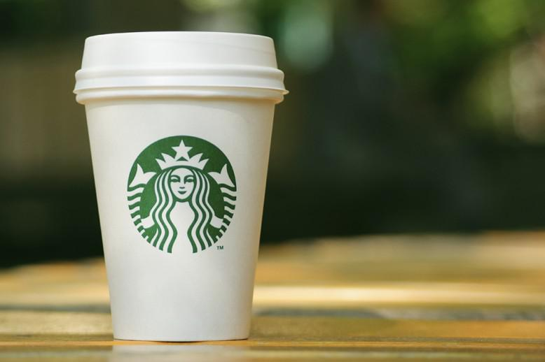 A Starbucks coffee cup