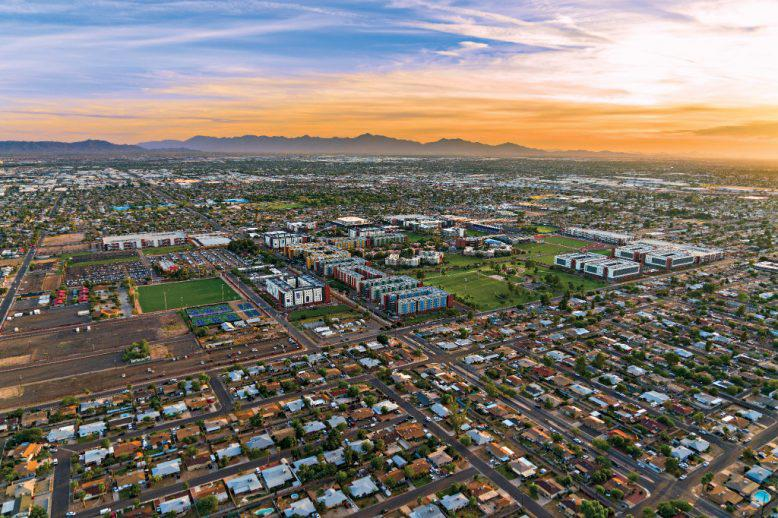 Grand Canyon University's campus from above