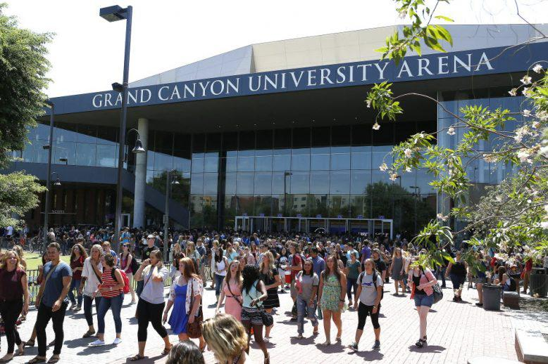 students outside of GCU arena