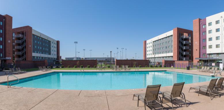 GCU pool and dorms