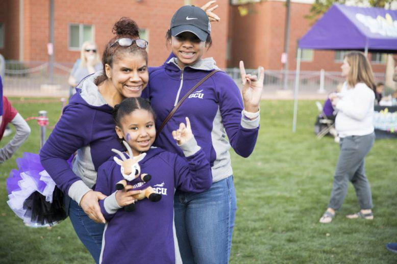 A GCU family enjoying campus