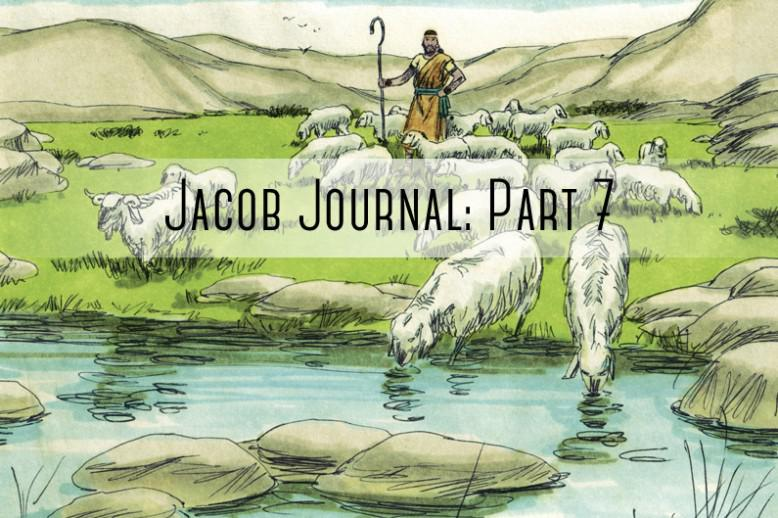 "sheapard and sheep with ""jacob journal part 7"" over it"
