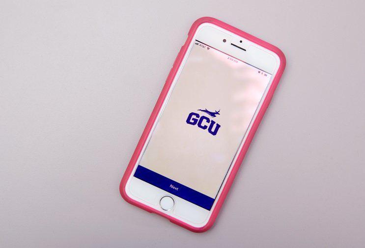 GCU app on iphone
