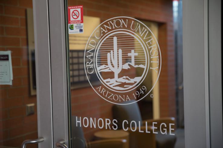 GCU honors college front door