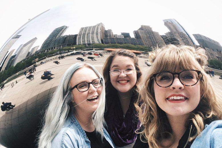 Jessalyn and her friends in Chicago