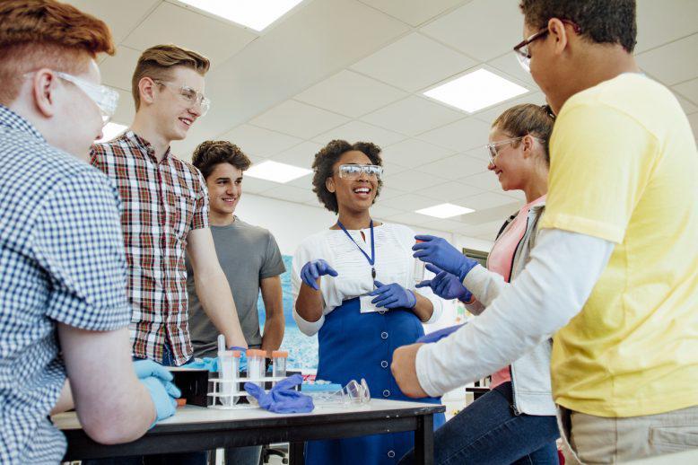 STEM students talking