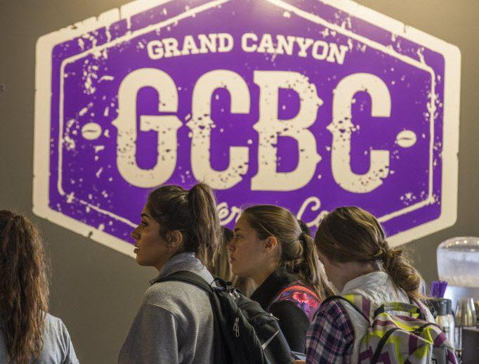 Students standing in line at GCBC