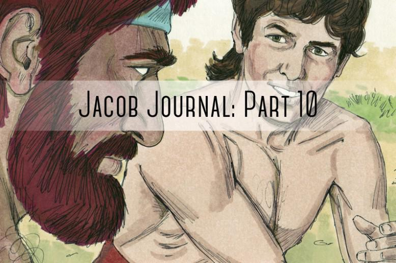 """people talking with """"jacob journal part 10"""" written over it"""