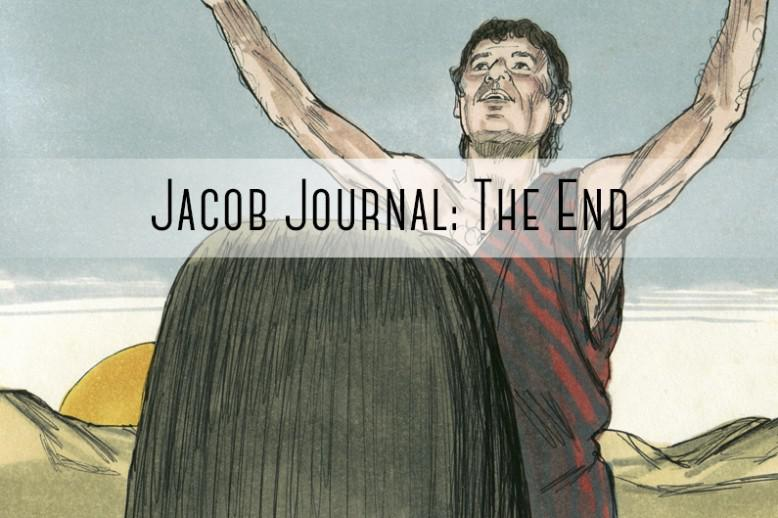 """person with hands up """"jacob journal: the end"""""""