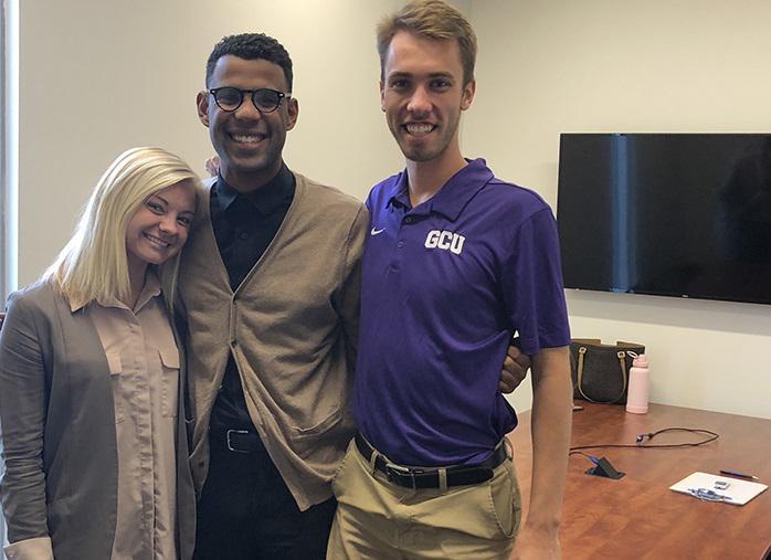 three GCU students smiling