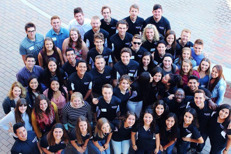 Overhead shot of GCU Honors Students