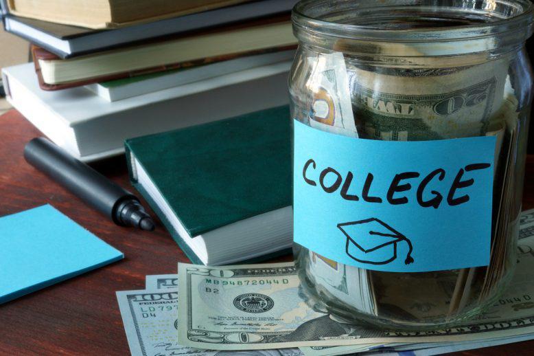 College fund in a jar