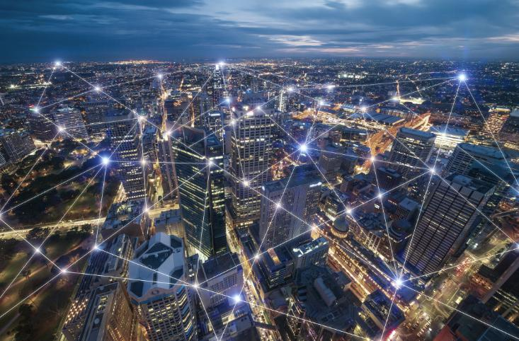 A city seen broken down as a series of wireless connections