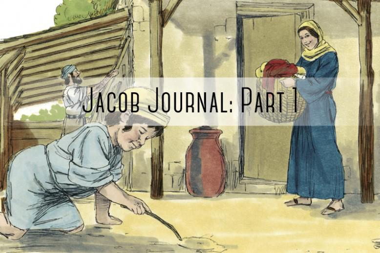 """kid playing in dirt with """"jacob journal part 1"""" written on it"""