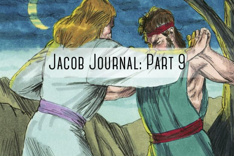 "two people fighting with ""jacob journal part 9"" written on it"