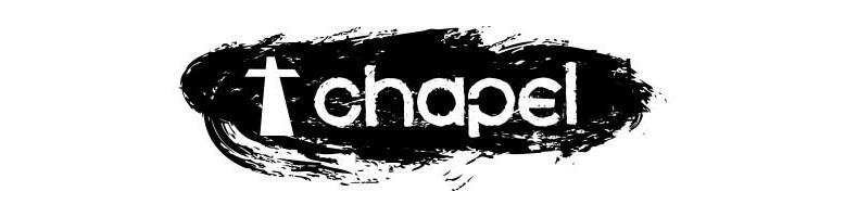 Black and white chapel logo