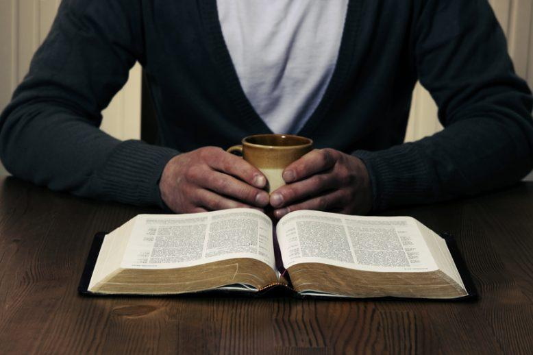 A student reading the Bible