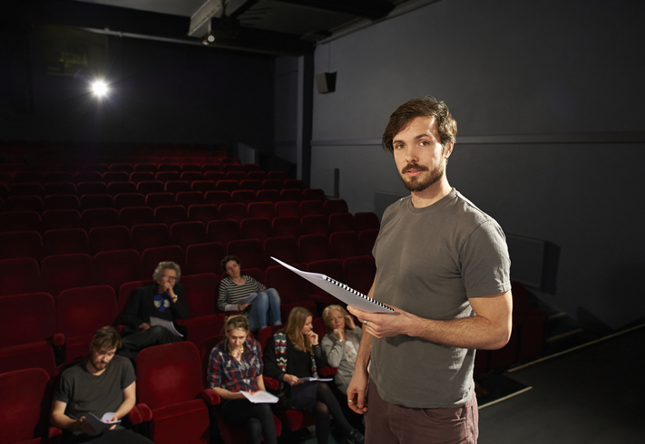 actor on stage