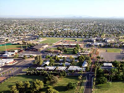 GCU campus in the 90s