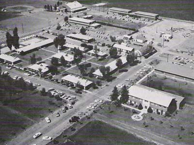 Black and white image of GCU's campus in the 60s