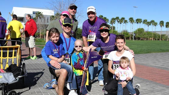 Participants of the Run to Fight Children's Cancer race in 2014